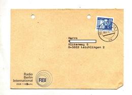 Lettre Cachet Berlin Sur Marx Entete Radio Berlin - [6] République Démocratique