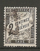 TAXE - Yv. N°  11   (o)   2c   Type Duval  Cote 30  Euro  BE  2 Scans - Taxes