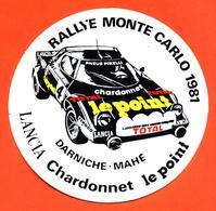 Autocollant Lancia Stratos Rallye Monté Carlo 1981 Darniche Mahé - Chardonnet - Autocollants
