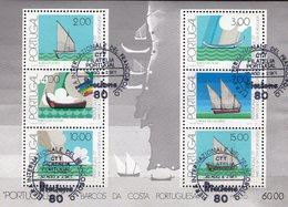 PORTUCALE Schiffe 1977 Portugal Block 22 O 7€ Fischerei-Boote Lissboa Hb Bloc M/s Philatelic Ss Ships Sheet Bf EXPO - Esposizioni Filateliche
