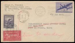 HAITI. 1946 (1 Nov). USA - Haiti - USA. Dual Fkd Flown Panama Flight. Nice Cond. - Haiti