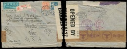 DENMARK. 1940 (1 Nov). Aalborj - USA. Reg Air Multifkd + Dual Censored Nazi + British Censored. Scarce Routing. - Danemark