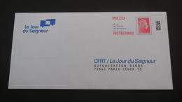 PAP 2109 Mars - Réponse Yseult YZ Catelin   CFRT / Le Jour Du Seigneur Agrément : 199156    Pas De Numéro à L'intérieur - Prêts-à-poster: Réponse