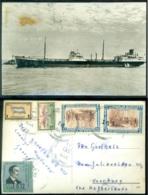 Honduras Postcard To Netherlands Ship - Honduras