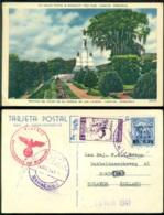 Venezuela 1941 Postcard Caracas Examined By German Censor - Venezuela