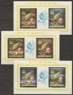 M589 GUYANA GOLD,SILVER PREHISTORIC ANIMALS DINOSAURS 3BL MNH - Preistorici