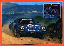 CPSM GF Championnat D'europe Des Rallyes 1977 Lancia Stratos Chardonnet 1er Darniche - Mahé - Rallyes