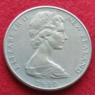 New Zealand 20 Cents 1980 KM# 36.1  Nova Zelandia Nuova Zelanda Nouvelle Zelande - Nueva Zelanda