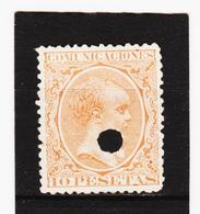 LKA218 SPANIEN 1889 MICHL 201 Entwertet / Gelocht Siehe ABBILBUNG - 1889-1931 Königreich: Alphonse XIII.