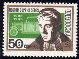 URUGUAY 1974 HECTOR SUPPICI SEDES AND CAR 50p MNH - Uruguay