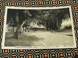 CPA 09 LABASTIDE SUR L HERS. La Promenade Et La Halle.animé édit. Lacoume - France