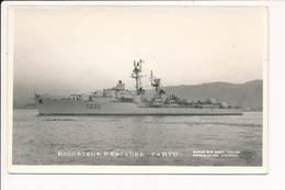 Carte De L' Escorteur D' Escadre TARTU ( Bateau De Guerre )( Format C.P.A ) La Cigale 21 Quai Stalingrad Toulon - Guerre