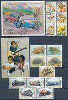 5 Motiv-Ausgaben (Pilze, Elvis, Eisenbahn, Auto, Schildkröten) - Briefmarken