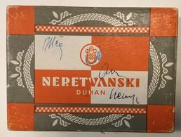 EMPTY  TOBACCO  BOX    CIGARETTES  NDH  NERETVANSKI  DUHAN   CROATIA WWII.  HRVATSKI DRZAVNI MONOPOL - Schnupftabakdosen (leer)