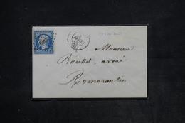 FRANCE - Enveloppe De Orléans Pour Romorantin  En 1869 , Affranchissement Napoléon , PC 2340 - L 26144 - 1849-1876: Période Classique