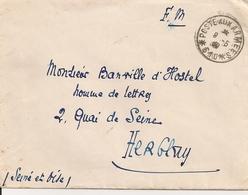 F.M.  Poste Aux Armées 1939- Syrie Damas à Herblay - Avec Courrier - Franchigia Militare (francobolli)
