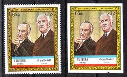 Fujeira - 1972. De Gaulle Con Adenauer. Perf.  E  Imperf. MNH  Stamps. Rare! - De Gaulle (Général)