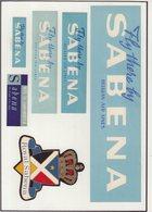 ETIQUETTES A BAGAGES : BELGIQUE . SABENA . - Baggage Labels & Tags