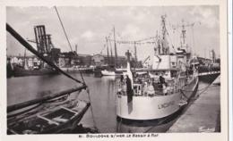 Carte Photo De L'INCOMPRISE  à Flot Dans Le Port De Boulogne Sur Mer - Guerra