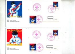 2 Pap  Croix Rouge Fdc Paris 1996 - Entiers Postaux
