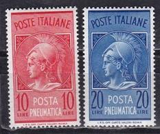 Repubblica Italiana, 1958  - Posta Pneumatica - Nr.PN20/PN21 MNH** - 1946-.. Republiek