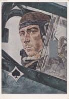 Oberst MÖLDERS  As De L'aviation Allemande . Illustration De W . Willrich . Cachet Allemand - Weltkrieg 1939-45