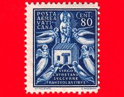 Nuovo - VATICANO - 1938 - Soggetti Vari -  POSTA AEREA - Angeli E Casa Di Loreto - 80 C. - Poste Aérienne