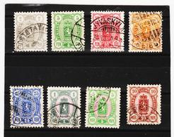LKA190 FINNLAND 1889 Michl 27/34 Gestempelt SIEHE ABBILDUNG - 1856-1917 Russische Verwaltung