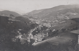 CARTE PHOTO ALLEMANDE - GUERRE 14-18 - VOGESEN (MARKIRCH) - VOSGES - VUE SUR LA VILLE - USINES LACOUR - Guerre 1914-18