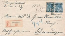 Nederlands Indië - 1905 - 12,5 Cent Bontkraag, Envelop G15 + 12,5 Cent Als R-cover Van L KENDANGAN Naar Scheveningen - Nederlands-Indië
