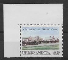 ARGENTINA YEAR 1986 TRELEW CITY RAILROAD STATON 1 VALUE MINT NH - Argentina