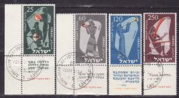 ISRAEL 1955. Mi 114/17, USED - Israel