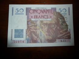 FRANCE * LE VERRIER  -   50  Francs - J 20.3.1947   -    K51 - 50 F 1946-1951 ''Le Verrier''