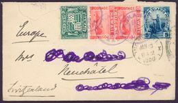 HAWAII KAHULUI 1900 COVER To Switzerland Neuchatel By New-York Scott 80, 81, 82 - 1899 - Hawaii