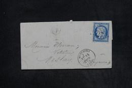 FRANCE - Lettre De Montsurs Pour Meslay En 1876 , Affranchissement Cérès , GC 2527 - L 26165 - 1849-1876: Période Classique