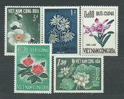 Vietnam Del Sur - Correo Yvert 264/8 ** Mnh  Flores - Viêt-Nam