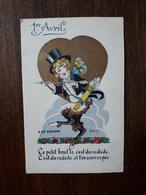 Carte Fantaisie. Illustrateur A.Wuyts. 1er Avril. La Fleche D'amour - Wuyts