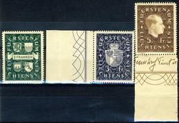 """1939 Liechtenstein MNH OG Complete Set Of 3 High Value Stamps """"Coat Of Arms And Prince Franz Josef II"""" - Liechtenstein"""