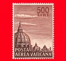 Nuovo - MNH - VATICANO - 1953 - Cupola Della Basilica Di San Pietro -  POSTA AEREA - 500 - Poste Aérienne