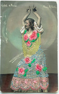 Cartolina Ricamata Costume - Perlita Ballerina? - Ricamate