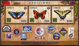 BUTTERFLIES 2019 SCOUT JAMBOREE USA CANADA PAPILLONS SCHMETTERLINGE CONGO [#05] - Mariposas