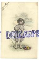 Montage Photographique. Petite Fille, Fleurs. 1910 - Portraits