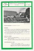 Train Tramway Tram 42 Roanne Chemin De Fer De La Loge Des Gardes Voie étroite Fiche Descriptive & Plan Au Dos - Europe
