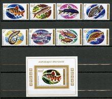 Rwanda, Yvert 553/559+BF30, Scott 541/548+549, MNH - Rwanda