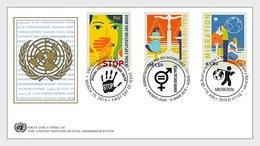 VN / UN - Postfris/MNH - FDC Stop Misbruik, Migratie, Gelijkheid 2019 - Gezamelijke Uitgaven New York/Genève/Wenen