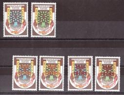 Guinée - 1960/61 - N° 32 Et 33 + 52 Et 53 (x 2 Surcharges Couleurs Différentes) - Neufs * - Année Mondiale Du Réfugié - Guinée (1958-...)