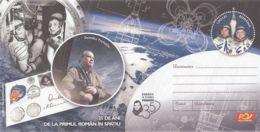 SPACE, COSMOS, DUMITRU PRUNARIU,  COVER STATIONERY, ENTIER POSTAL, 2016, ROMANIA - Lettres & Documents