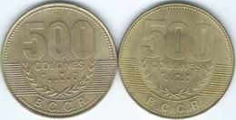 Costa Rica - 2005 - 500 Colones (KM239.1) & 2007 (KM239.1a) - Costa Rica