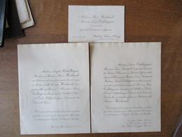 Mademoiselle YVONNE HEIDSIECK Et Monsieur JEAN CALDAGES LIEUTENANT D'ARTILLERIE LE 30 MARS 1921 EGLISE St PIERRE DE CHAI - Mariage