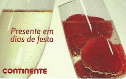"""PORTUGAL - SONAE Gift Card """"Continente - Present On Holidays"""" - Cartes Cadeaux"""
